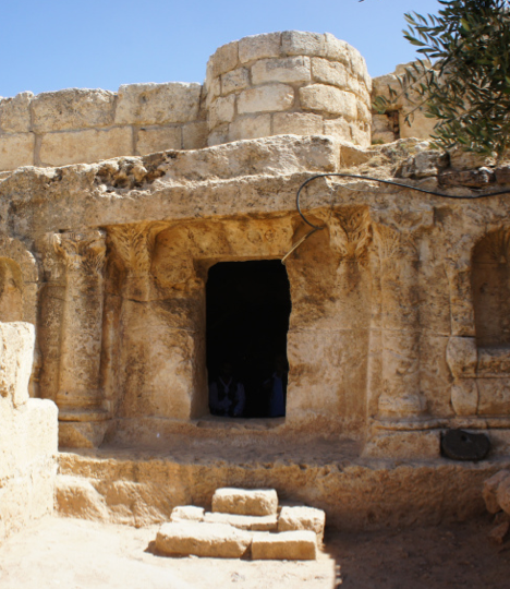 People of the Cave (Surat Kahf), assumed to be located near Amman, Jordan.