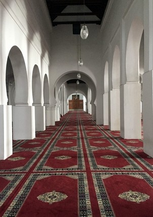 Prayer hall of Qarawiyyin Masjid, Fez, Morrocco