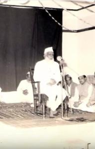 Mawlana Hifz al-Rahmān Seohārvi at a conference of Sīrat al-Nabi